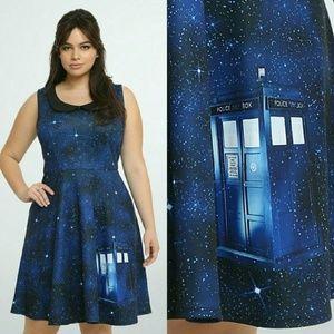 torrid Doctor Who skater dress w/ peter pan collar